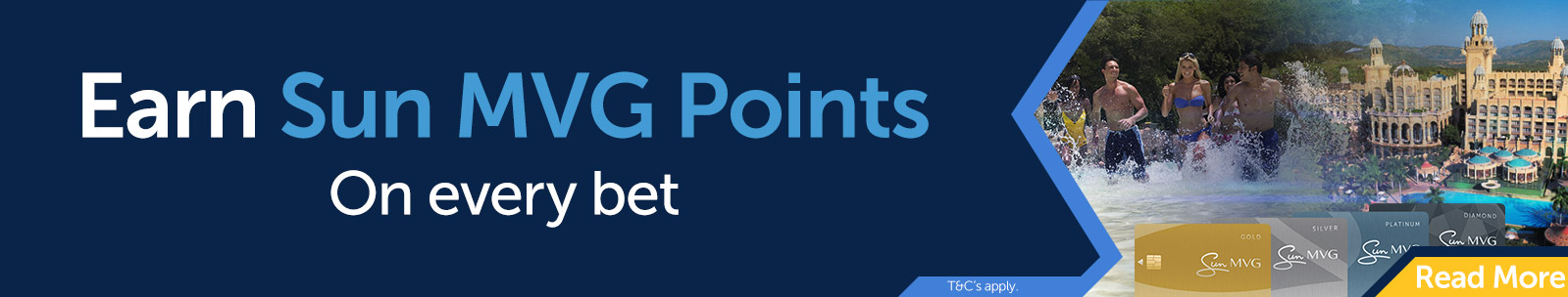 Earn Sun MVG Points on every bet